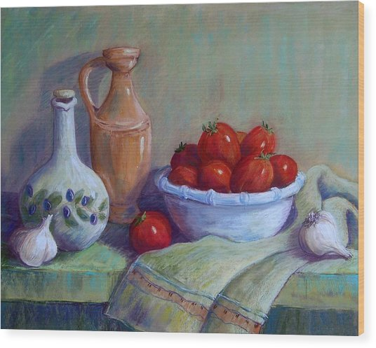 Italian Still Life Wood Print by Candy Mayer