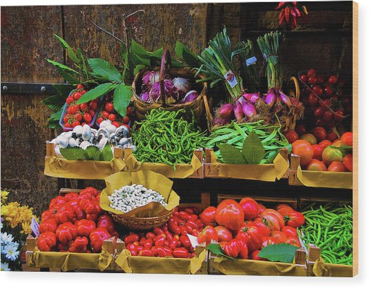 Italian Vegetables  Wood Print