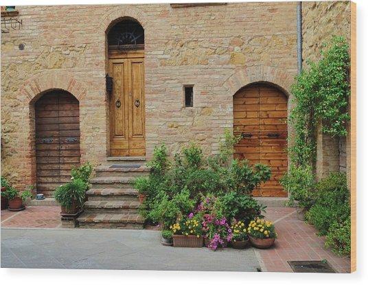 Italy - Door Eight Wood Print