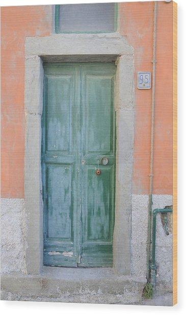 Italy - Door Five Wood Print