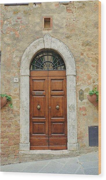 Italy - Door Twelve Wood Print