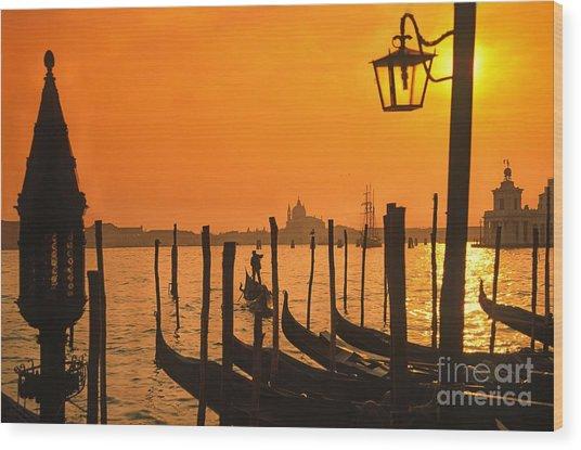 Wood Print featuring the photograph Italy Venice Riva Degli Schiavoni , Canale Grande Riva Degli Sch by Juergen Held
