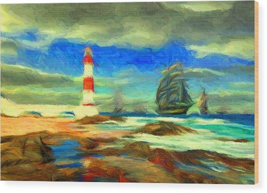 Itapua Lighthouse 1 Wood Print