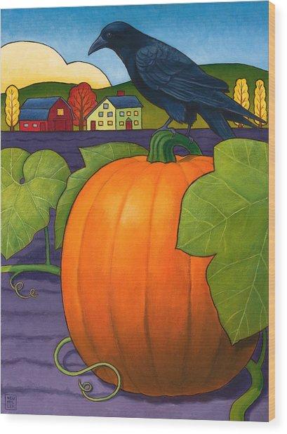 Its A Great Pumpkin Wood Print