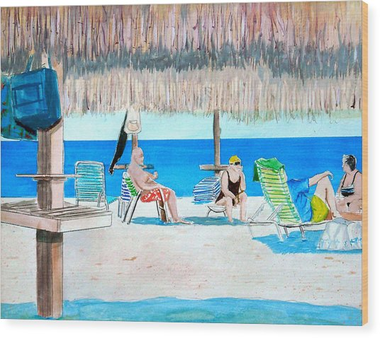 It's Always Sunny In Aruba Wood Print