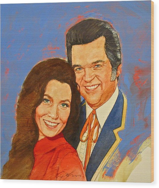 Its Country - 12 Loretta Lynn Conway Twitty Wood Print
