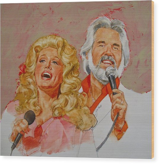 Its Country - 8  Dolly Parton Kenny Rogers Wood Print