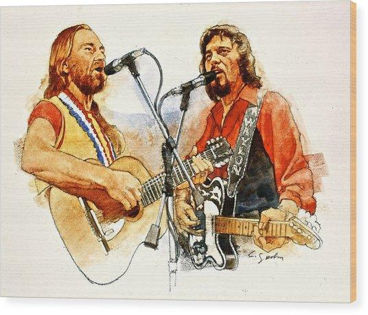 Its Country - 7  Waylon Jennings Willie Nelson Wood Print