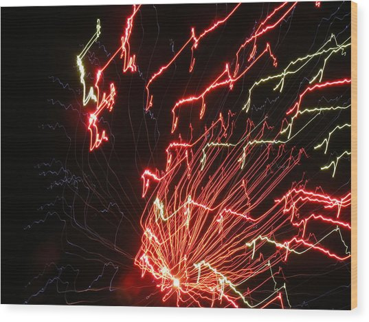 Its Electric Wood Print by James and Vickie Rankin