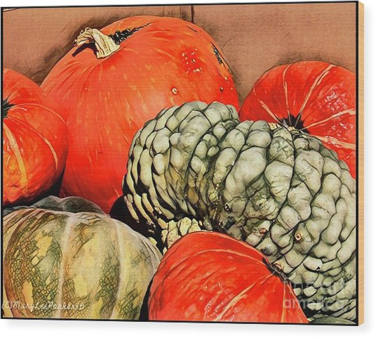 It's Pumpkin  Season Wood Print