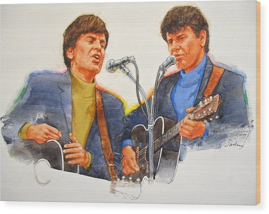 Its Rock And Roll 4  - Everly Brothers Wood Print