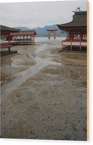 Itsukushima Shrine And Torii Gate Wood Print