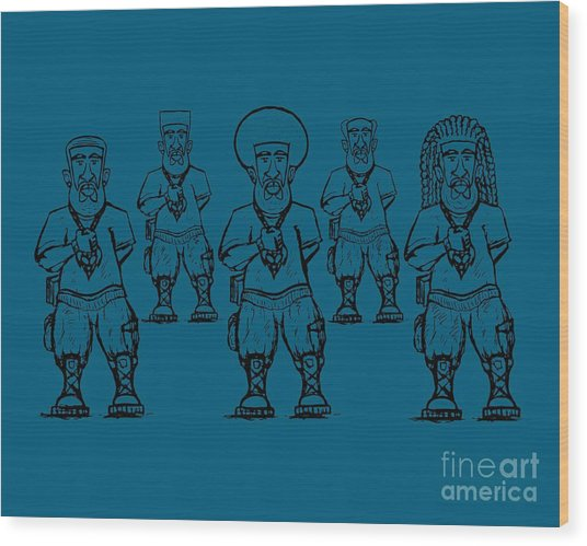 Iuic Soldier 1 W/outline Wood Print