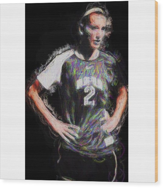 @iupui #soccer #futbol #painting Wood Print
