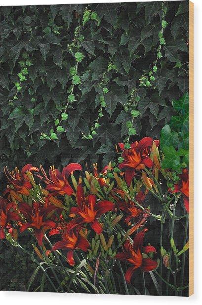 Ivy Over Wood Print by Richard Gordon