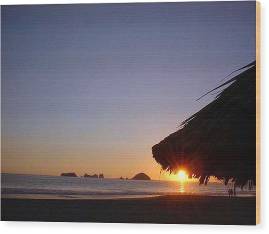 Ixtapa Sunset Wood Print by Jack G  Brauer