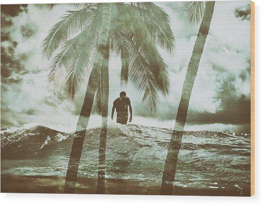 Izzy Jive And Palms Wood Print