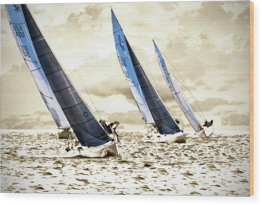 J Boats 2 Wood Print by Alan Hausenflock