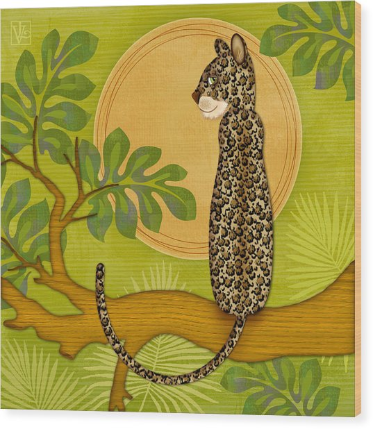 J Is For Jaguar Wood Print