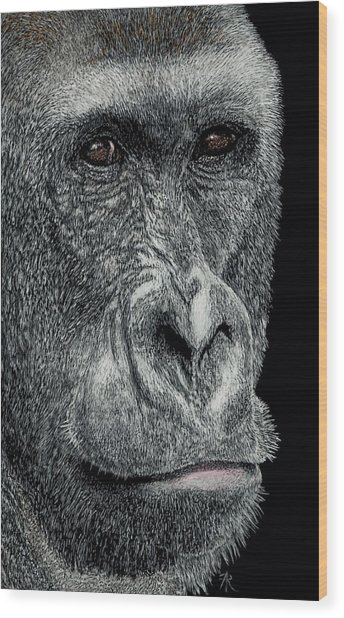 Jabari Wood Print