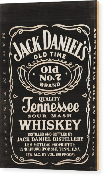 Jack Daniel's Wood Print
