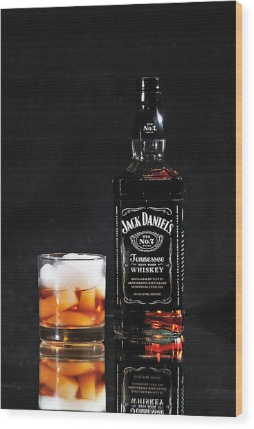 Jack Daniels Old No 7 Wood Print