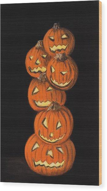 Jack-o-lantern Wood Print