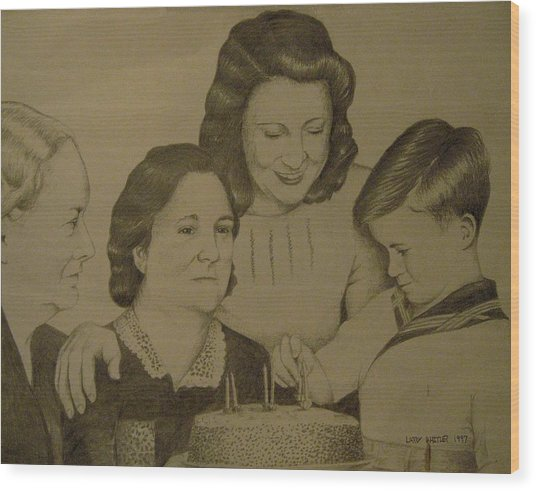 Jack's Birthday Wood Print by Larry Whitler
