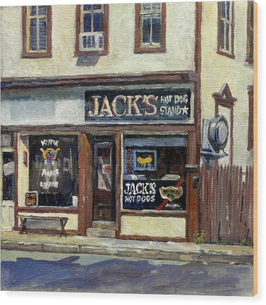 Jack's Hot Dogs North Adams Wood Print