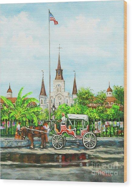 Jackson Square Carriage Wood Print