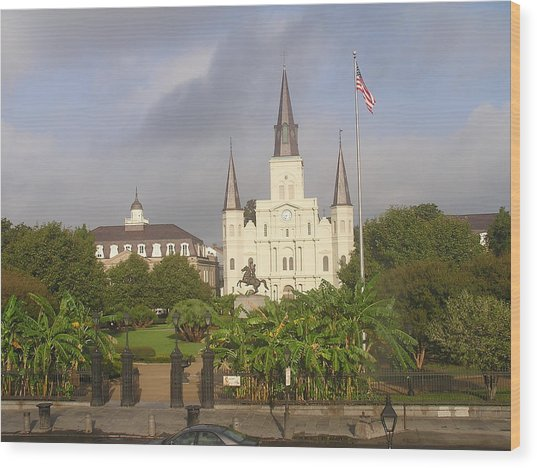 Jackson Square Morning Wood Print by Jack Herrington