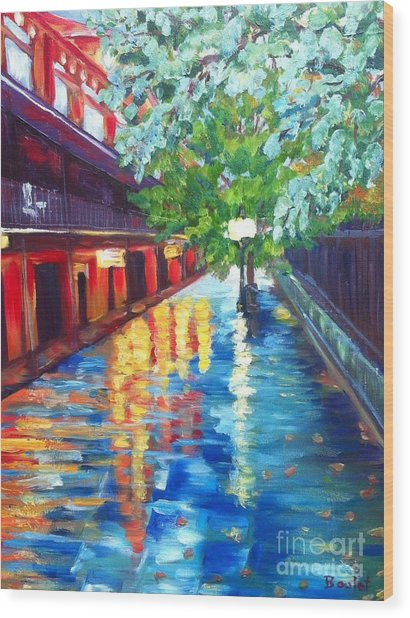 Jackson Square Reflections Wood Print