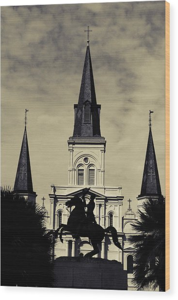 Jackson Square - Split Tone Wood Print