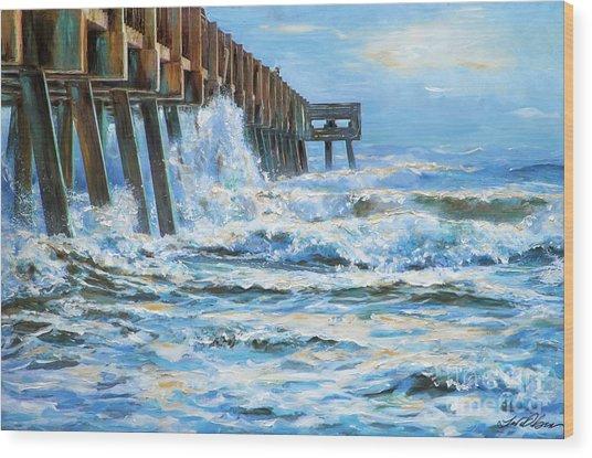 Jacksonville Beach Pier Wood Print