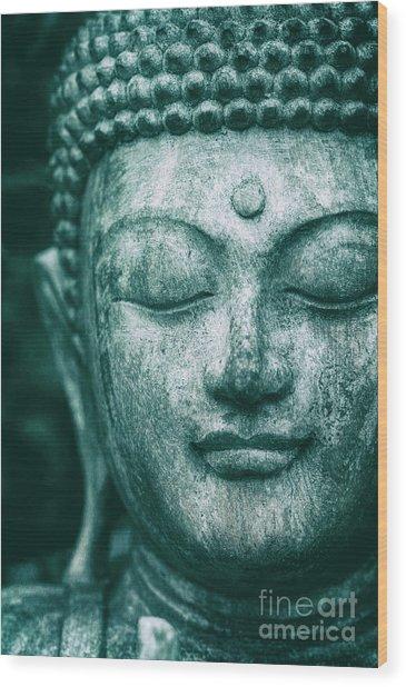 Jade Buddha Wood Print