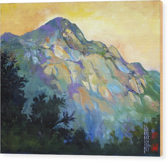Jade Mountain Wood Print