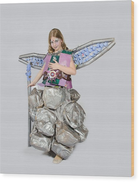 Jaeda In Techno Fairy Wood Print