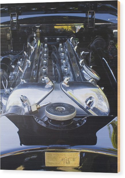 Jaguar 3.4l Wood Print by Alan Raasch