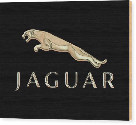 Jaguar Car Emblem Design Wood Print
