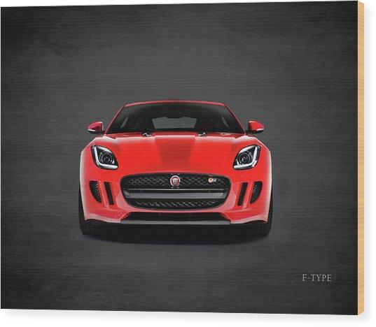 Jaguar F Type Wood Print
