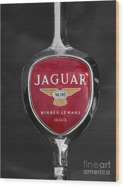 Jaguar Medallion Wood Print