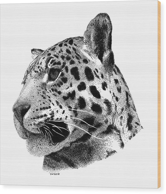 Jaguar Wood Print