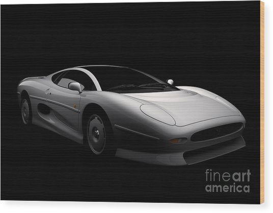 Jaguar Xj220 Wood Print