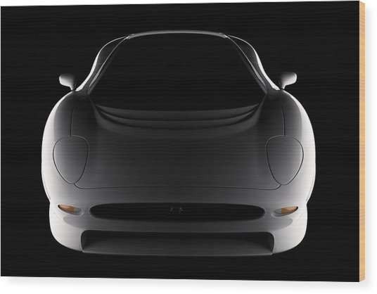 Jaguar Xj220 - Front View Wood Print