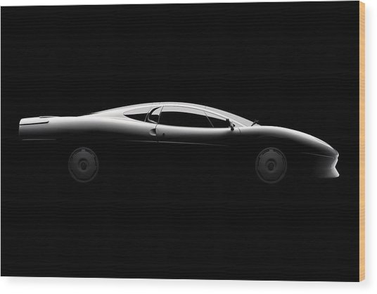 Jaguar Xj220 - Side View Wood Print