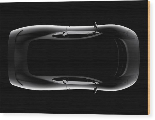 Jaguar Xj220 - Top View Wood Print
