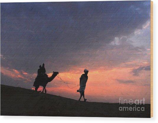 Jaisalmer Desert Festival-6 Wood Print