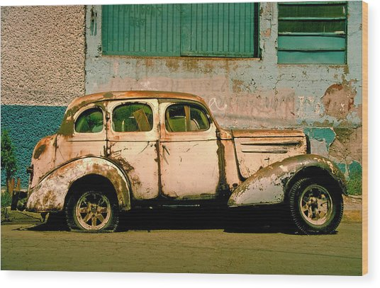 Wood Print featuring the photograph Jalopy by Skip Hunt