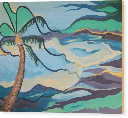 Jamaican Sea Breeze Wood Print