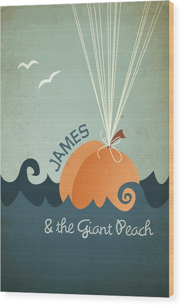 James And The Giant Peach Wood Print